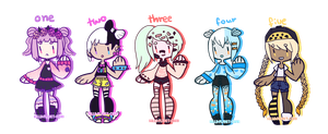 { pastels adopt batch } { CLOSED } by hello-planet-chan