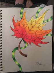 Autumn Leaf by Enerdyte