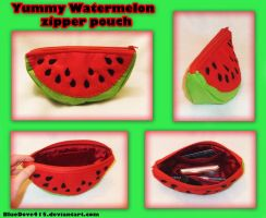 My new Watermelon zipper pouch by BlueDove415
