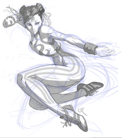 Chun-li sketch by JimboBox