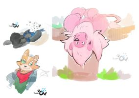 Twitter doodles by Flooderon