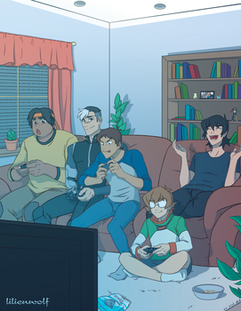 Game Night by yu-oka