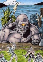 Balor Fomorians Sketch Card - Classic Mythology II by tonyperna