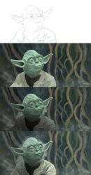 Yoda Digital Painting step by step by Mathieustern