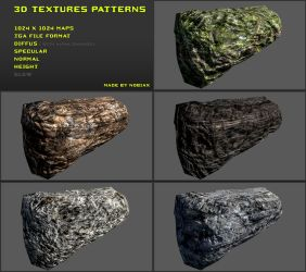 Free 3D textures pack 14 by Yughues
