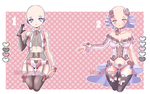 Lingerie adopts - Set price [1/2 open] by shimmering-jade