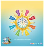 Kawaii Cosmic Sun Clock Close by KawaiiUniverseStudio