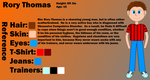 OC No. 9) Rory Thomas - Reference Sheet by LevelInfinitum