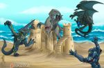Kaiju at the beach by YamiGriffin
