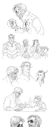 DnD: Sketchdump by coupleofkooks