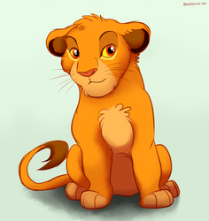 Painted Simba by Pouasson-de-oro