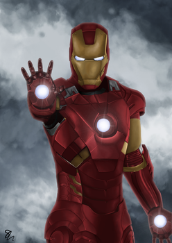 Iron Man by Sassalang
