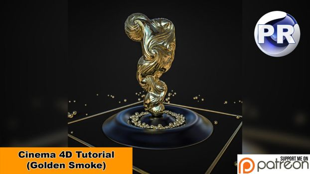 Golden Smoke (Cinema 4D Tutorial) by NIKOMEDIA