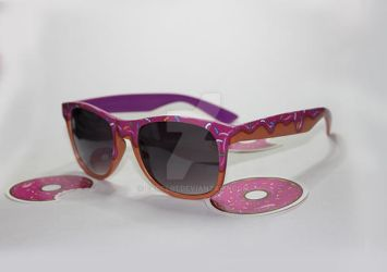 Hand painted doughnut glasses by Earcl01
