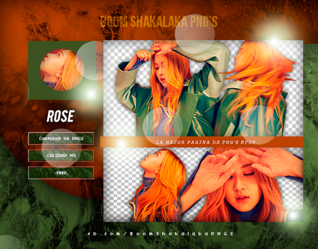 +Pack Png BLACKPINK|Rose by Pohminit