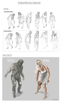 Outbreak! Undead concepts by Sirtuuna