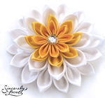 Commission: Sunshine Lily Kanzashi by SincerelyLove