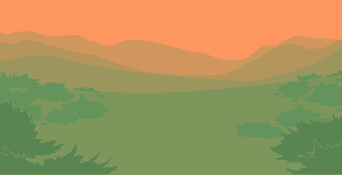 Sunlit Mountainside MSPaint Background (Large) by Birritan