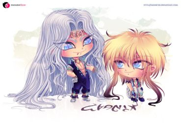 Isidorus with Leander_CHIBI Commission by monstee
