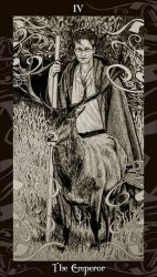 HP Tarot - 4 The Emperor by Ellygator