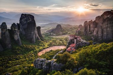Meteora Sunset by atreyu64