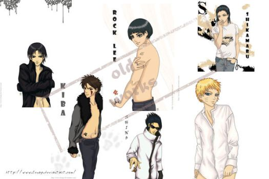 Naruto's Boys - old works by Lenap