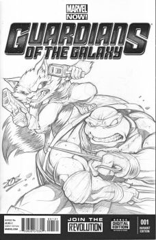 Raph and Rocket by dovianax