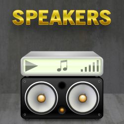 iTunes Speakers Icons by cavemanmac
