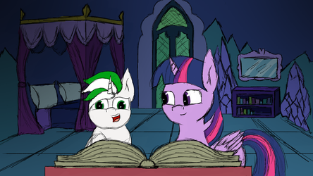 [Commission] Study Time with Twilight by Rainb0wDashie