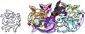 Eveelution adopts by Astrid-Adopts