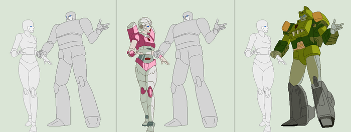Arcee and Springer Base by TFAfangirl14