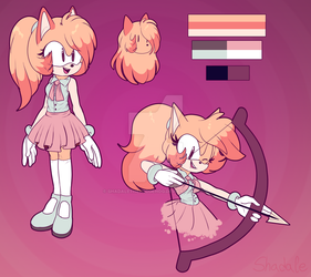 Emma The Hedgehog Re-Design by ShadaleTheHedgehog