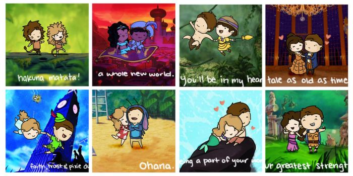 Love is A Little Disney Magic by packAndwhite241993
