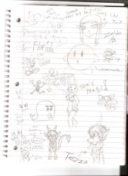 SKETCHES... ON A PLANE by sweetietweety111