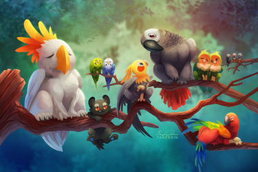 Griffins of a Feather by TsaoShin