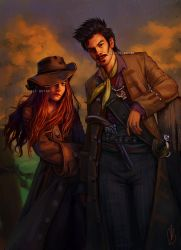 Anne Bonny and Jack Rackham (COMMISSION) by CelticBotan