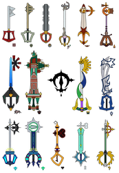 OE Keyblades Part 1 by LordKnightXiron