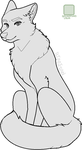 Dignified Lady - MSPaint Canine Lineart by Birritan