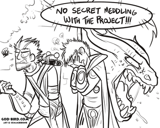 NO SECRET MEDDLING WITH THE PROJECT by godbirdart
