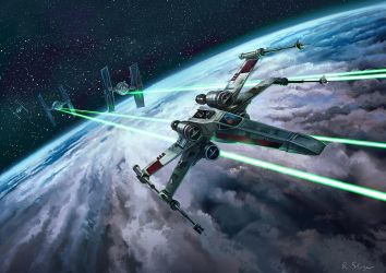 X-wing by Blik1976