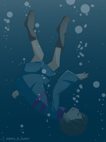 Undertale: Frisk drowning by MnMs-R-SwEeT