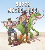 Super Macho Bros by dannyPs-customs