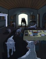 Grimm's:Wolf and 7 Little Kids by theartful-dodge