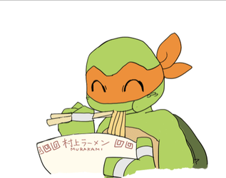 Mikey eating by Tamago45