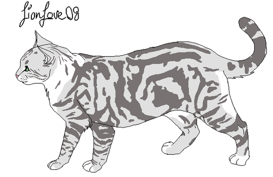 Clouded She-Tabby Lineart by LionLove08
