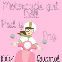Motorcycle Girl Doll by PinkLifeEditions