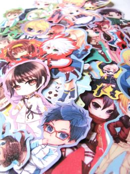 Chibi Stickers by kyaptain