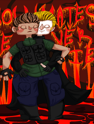Chris X Wesker SOULMATES NEVER DIE by SmasherlovesBunny500