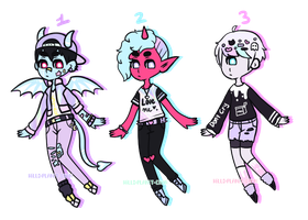 Pastel Monster Boys [CLOSED] by hello-planet-chan