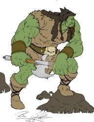 Orc Barbarian Color by UncannyBruceman